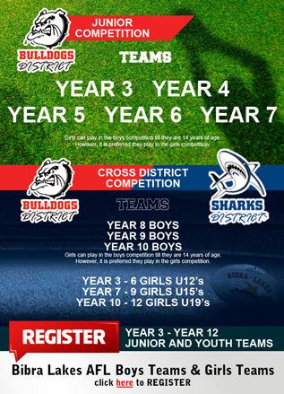 Juinor Youth AFL Registration